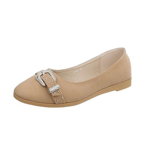 Ital-Design Zapatos para Mujer Mocasines Plano Slip: Amazon.es: Zapatos y complementos