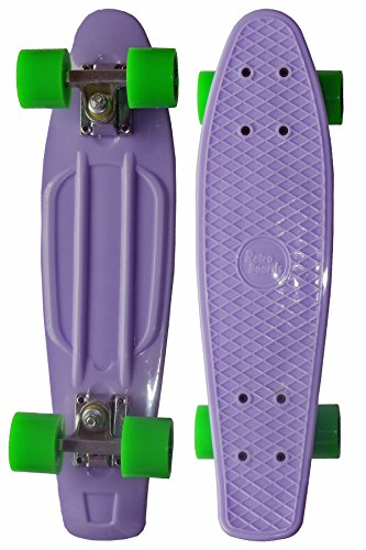 RETRO BOARDS Pastel Skateboard, Violet, 22-Inch
