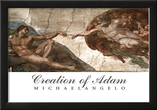 Creation of Adam (Full) Michaelangelo ART PRINT POSTER Framed Poster 21 x 15in