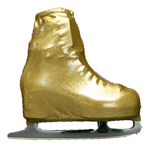 Ice Skating Metallic Boot Covers by Kami-So Skatewear (Gold, Child) ()