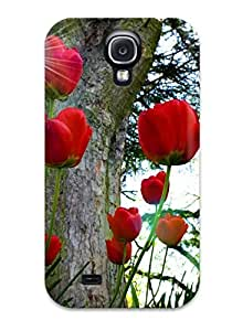 Galaxy S4 Case Cover Red Fields Of Roses Case - Eco-friendly Packaging