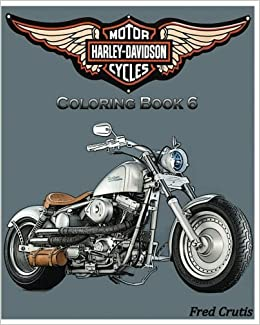 Amazon.com: Motor : Harley-Davidson Coloring Book 6: design coloring ...
