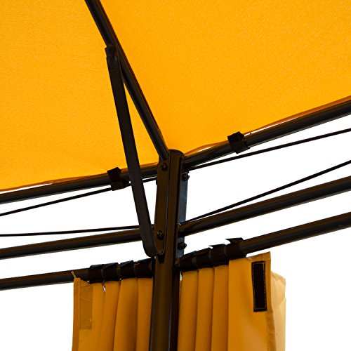 Outsunny Round Outdoor Patio Canopy Party Gazebo with Curtains, 11-Feet, Orange by Outsunny (Image #3)