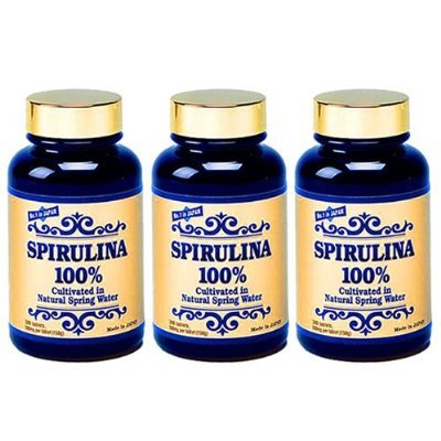 Spirulina 100% - 300tabs/500mg - 3-bottle Pack by Japan Algae