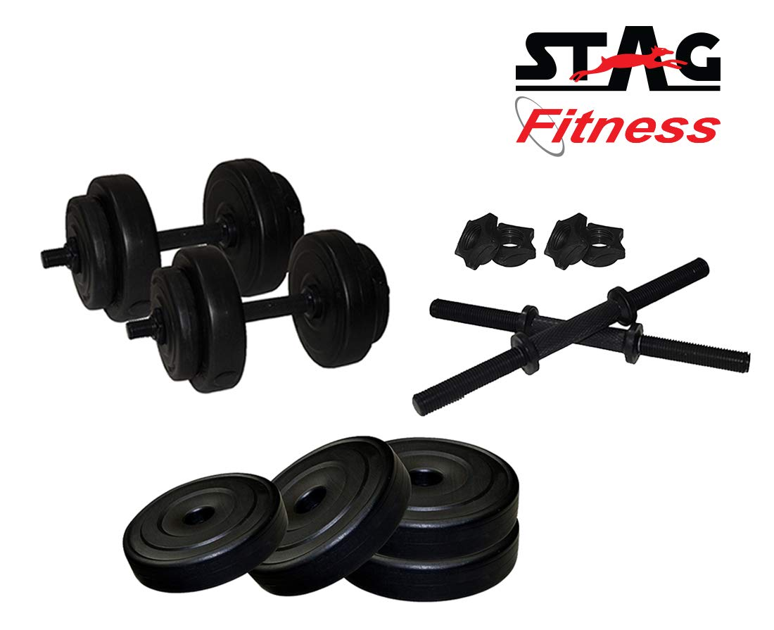 Stag Fitness SFPAD12 ADJUSTABLE PVC STANDARD DUMBBELL SET 12 KG (B07MGHBSXT) Amazon Price History, Amazon Price Tracker
