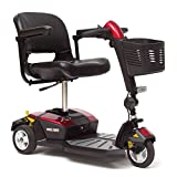 Pride Mobility - Go-Go LX with CTS Suspension - Travel Scooter - 3-Wheel - Red - PHILLIPS POWER PACKAGE TM - TO $500 VALUE