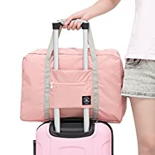 Arxus Travel Lightweight Waterproof Foldable Portable Storage Luggage Bag (Indi Pink)