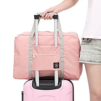 Youngnis Travel Lightweight Waterproof Foldable Portable Storage Luggage Bag (Indi Pink)