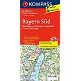 Bayern Süd - Oberbayern - Chiemsee - Ingolstadt - Passau - München: Großraum-Radtourenkarte 1:125000, GPX-Daten zum Download (KOMPASS-Großraum-Radtourenkarte, Band 3712)