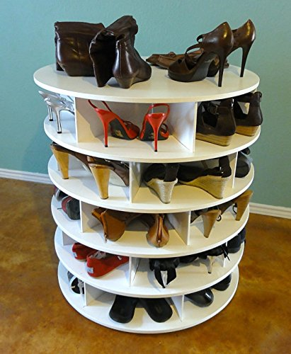 Lazy Susan Shoe Closet Storage