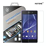 Sony Xperia Z2 Screen Protector, HUYSHE® Tempered Glass Screen Protector for Sony Z2 Anti Scratches and Drops-Ultra Clear HD Version-Maximize Your Resale Value-Free Lifetime Guarantee-Bubble Free Installation-Retail Packaging