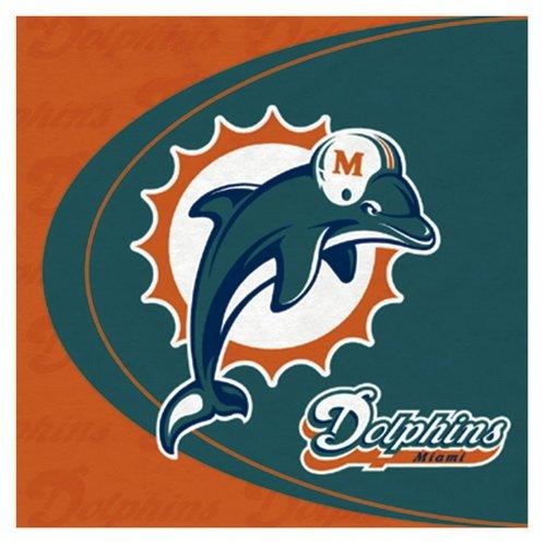 Miami Dolphins Lunch Napkins (Miami Costume Stores)
