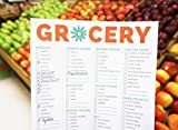 """bloom daily planners Magnetic Grocery Shopping List To-Do Pad - Weekly Planning Food Organizer / Tear-Off Notepad Hanging Checklist for Fridge - 6"""" x"""