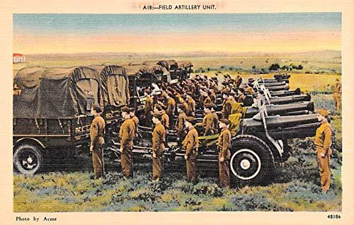 Military Post Card Old Vintage Antique Postcard Field Artillery Unit Unused