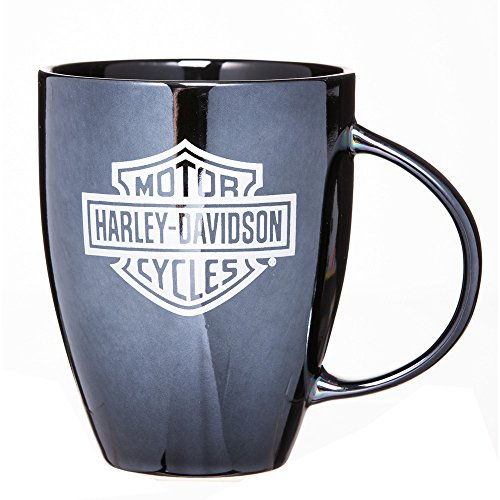 Harley-Davidson Ceramic Coffee Mug, Bar & Shield Bistro 18 oz Black (Harley Davidson Racks)