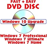 Software : Windows 10 Upgrade DVD for 7 + 8.1 Home, Professional, Ultimate
