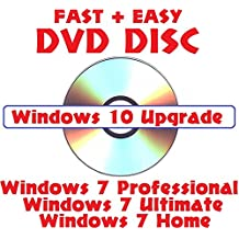 Windows 10 Upgrade DVD for 7 + 8.1 Home, Professional, Ultimate