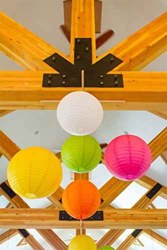 Selizo 15 Packs Paper Lanterns with Assorted Colors and Sizes for Party Decoration by Selizo (Image #6)