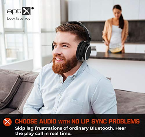 Wireless TV Headphones with TV Bluetooth Adapter System, Listen in HD, No  Audio Delay, Over Ear Bluetooth 5 Headset Ready to Use, Paired for Free,  100