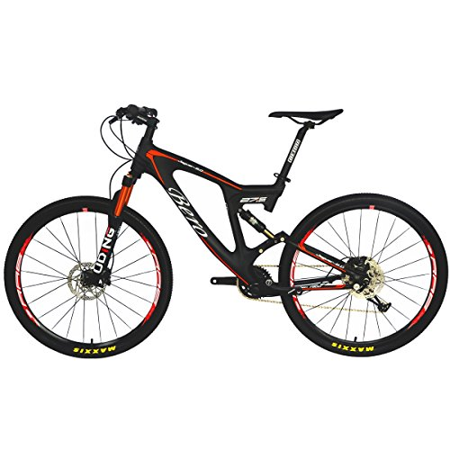 BEIOU® Carbon Dual Suspension Mountain Bicycles All Terrain 27.5 Inch MTB 650B...