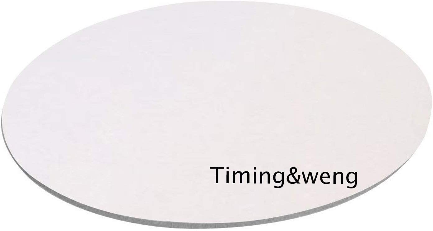Timing/&weng Modern Pink and Purple Floral Pattern Round mosue pad Non-Slip Mouse pad Gaming Mouse pad