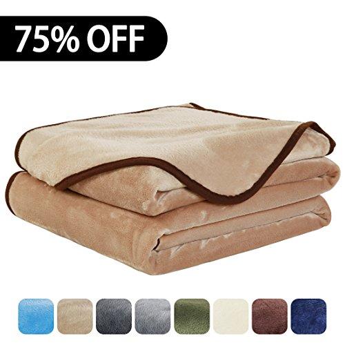 EASELAND Luxury Super Soft Travel Size Blanket Summer Coolin