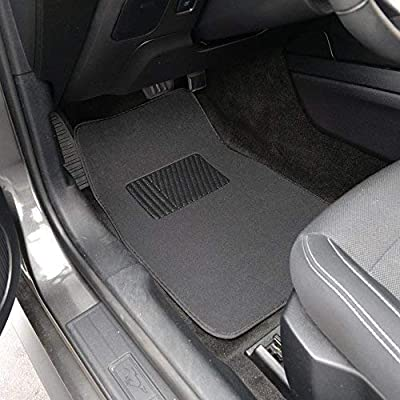 BDK MT-120-CC Interlock Car Floor Mats-Secure No-Slip Technology for Automotive Interiors Inter-Locking Carpet, 4 Piece, Charcoal: Automotive