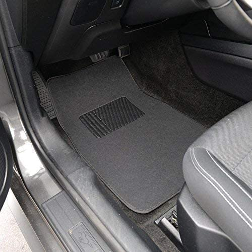 826942129223 4pc Inter-Locking Carpet Secure No-Slip Technology for Automotive Interiors Black BDK Interlock Car Floor Mats