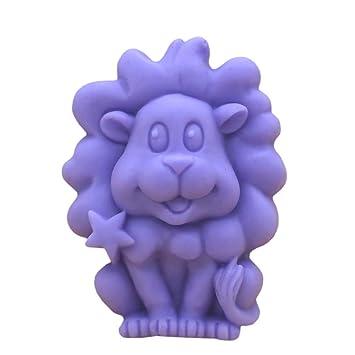 grainrain León hacer jabón molde de silicona jabón Moldes de resina Moldes moldes de jabón hecho a mano DIY Craft Art vela moldes molde 1 pc: Amazon.es: ...