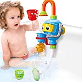 Baby Bathtub Toy Diver Game - Happytime New Design Water Toys 3 Stackable and Nesting Cups, Submarines and Spout (Color in random)