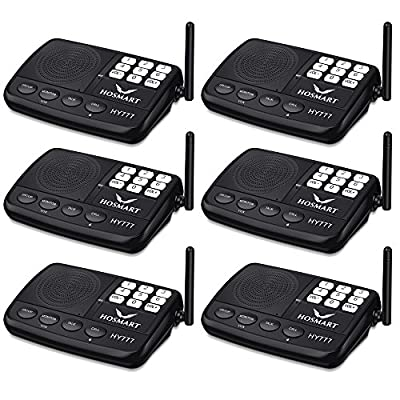 Wireless Intercom System Hosmart 1/2 Mile LONG RANGE 7-Channel Security Wireless Intercom System for Home or Office (2018 New Vesion)