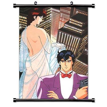 Amazon Com City Hunter Anime Fabric Wall Scroll Poster 16 X 24