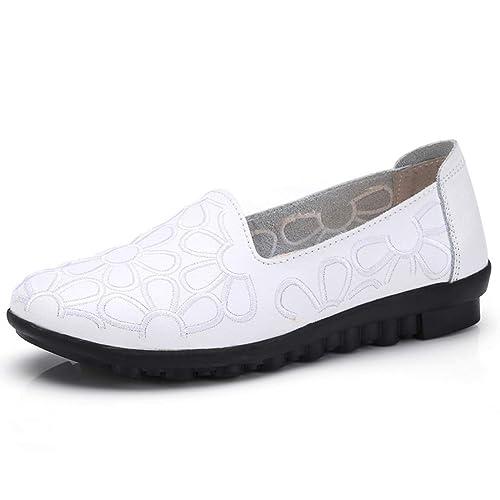 Zapatos Bordados de Moda para Mujer Mocasines sin Cordones Zapatos de Ocio Suaves Zapatos de Trabajo: Amazon.es: Zapatos y complementos