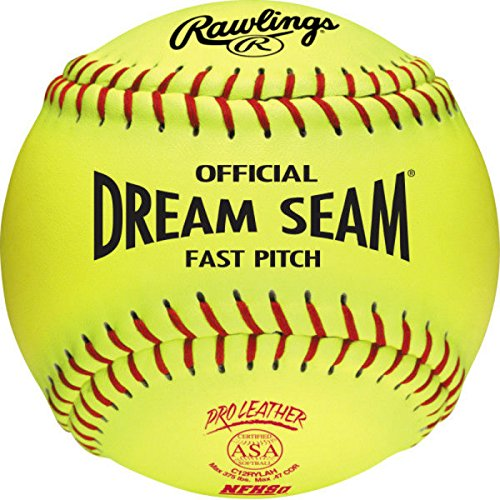 Worth Fastpitch ASA and NFHS Stamped 12-Inch C12RYLAH Leather Ball (Pack of 12)