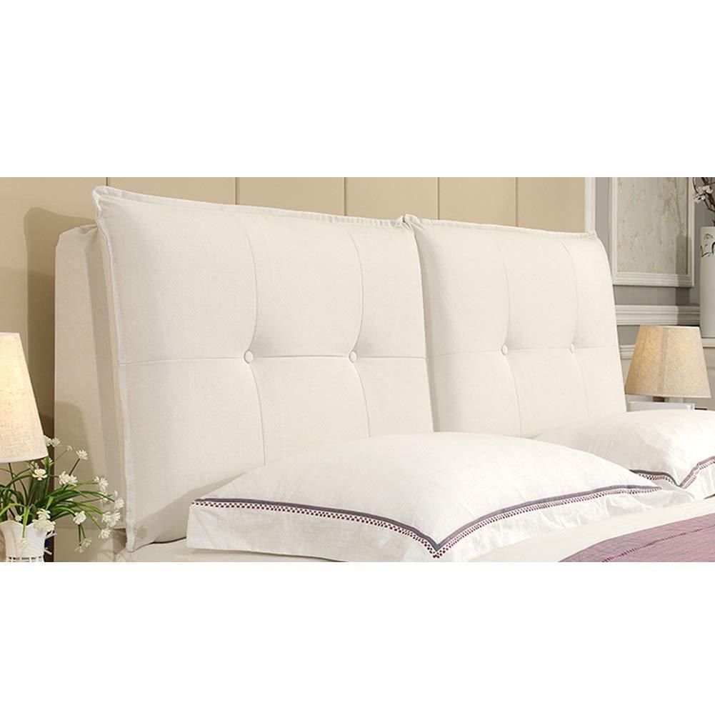 ベッドサイドピロー パッド入りヘッドボード 背もたれヘッドボード ヘッドボード ベッドサイドクッション リムーバブルと洗えるヨーロッパスタイルのソフトケース ZHANGAIZHZEN (色 : Cotton - rice - white, サイズ さいず : 185*60cm) B07PRVL2Y6