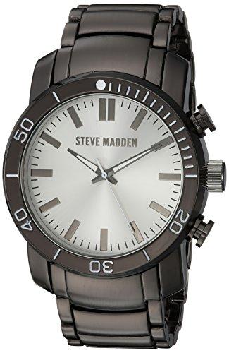 Steve Madden Men's Quartz Stainless Steel and Alloy Dress Watch, Color:Grey (Model: - Gunmetal Color Code