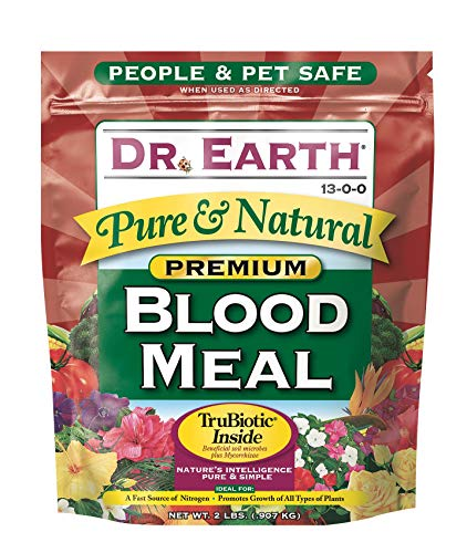 2 Lb Rabbit Food - Dr. Earth 716 Blood Meal 13-0-0 Boxed, 2-Pound
