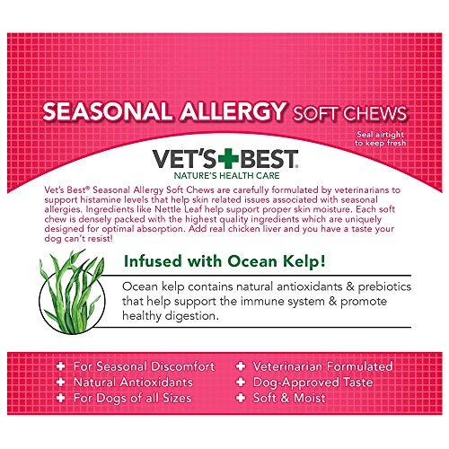 Image of Vet's Best Seasonal Allergy Soft Chews Dog Supplements, 30 Day Supply