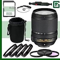 Nikon 18-140mm f/4-5.5.6G ED VR AF-S DX Lens + 8GB Greens Camera Bundle 3