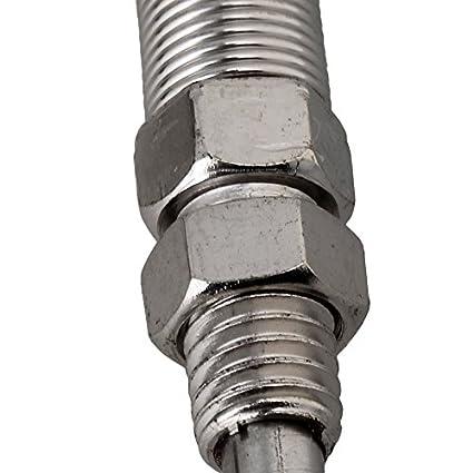 OUNONA 100/Piezas 4.6/mm 300/mm Abrazaderas de Cable de Acero Inoxidable