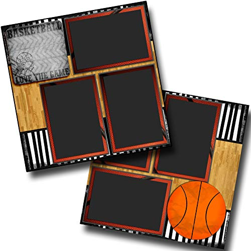 Love The Game - Basketball - Premade Scrapbook Pages - EZ Layout 3694