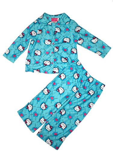 Hello Kitty - Girls Long Sleeve Pajamas, Blue, 1 Set Size 2T ()