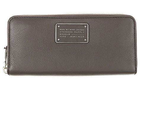 Marc by Marc Jacobs New Too Hot To Handle Slim Zip Around Wallet, Faded Aluminum, One Size