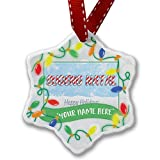 Personalized Name Christmas Ornament, Merry Christmas in Javanese from Java, Indonesia NEONBLOND