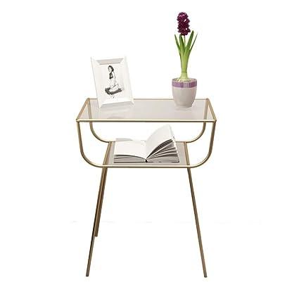 Basse de Petite Chevet d Table Table Métal et Table Verre q4ARL53j