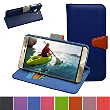 ZenFone 3 Case,Mama Mouth [Stand View] Flip Premium PU Leather [Wallet Case] With Card / Cash Slots and Pocket Cover For Asus ZenFone 3 ze552kl Smartphone 2016,Dark Blue