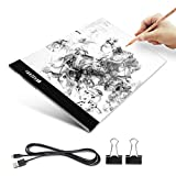 A4 Tracing Light Box, Elfeland Ultra-thin Portable LED Artcraft Light Table Light Pad Tracer USB Powered Copy Board for Artists Designers 2D Animation Drawing Sketching Caligraphy