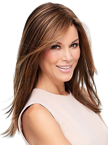 Top Secret 18'' Long Clip In Hair Topper Crown Jon Renau Womens Monofilament Wefted Top Addition Easihair Color 12FS8 by Jon Renau