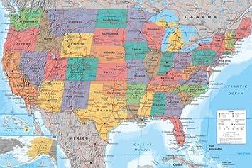 usa landkarte Amazon.de: USA Landkarte Poster   Poster Großformat usa landkarte