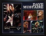 dean megadeth - Megadeth Dave Mustaine Autographed Dean Guitar Framed Photo Poster Display